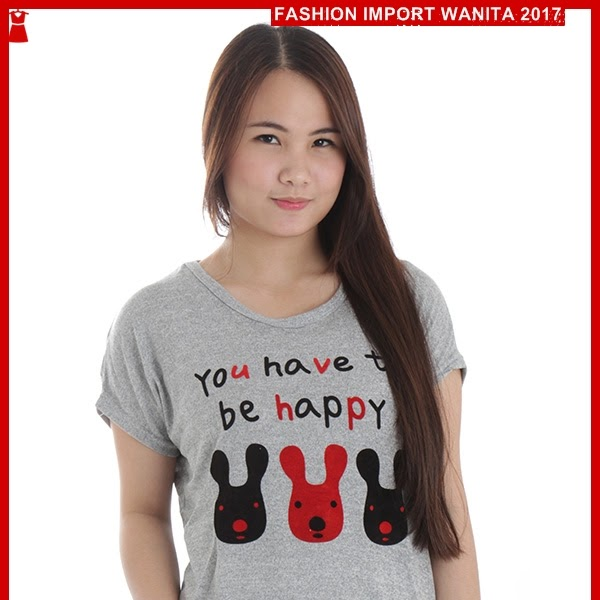 ADR089 Kaos Wanita Abu Rajut Raby Import BMGShop