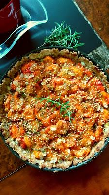 Tarte aux abricots-miel-romarin ;Tarte aux abricots-miel-romarin
