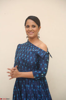Anchor Anasuya in a Blue Gown at Jai Lava Kusa Trailer Launch ~  Exclusive Celebrities Galleries 023.JPG