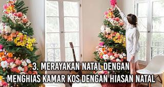Anak rantau Merayakan Natal dengan Menghias Kamar Kos Dengan Hiasan Natal