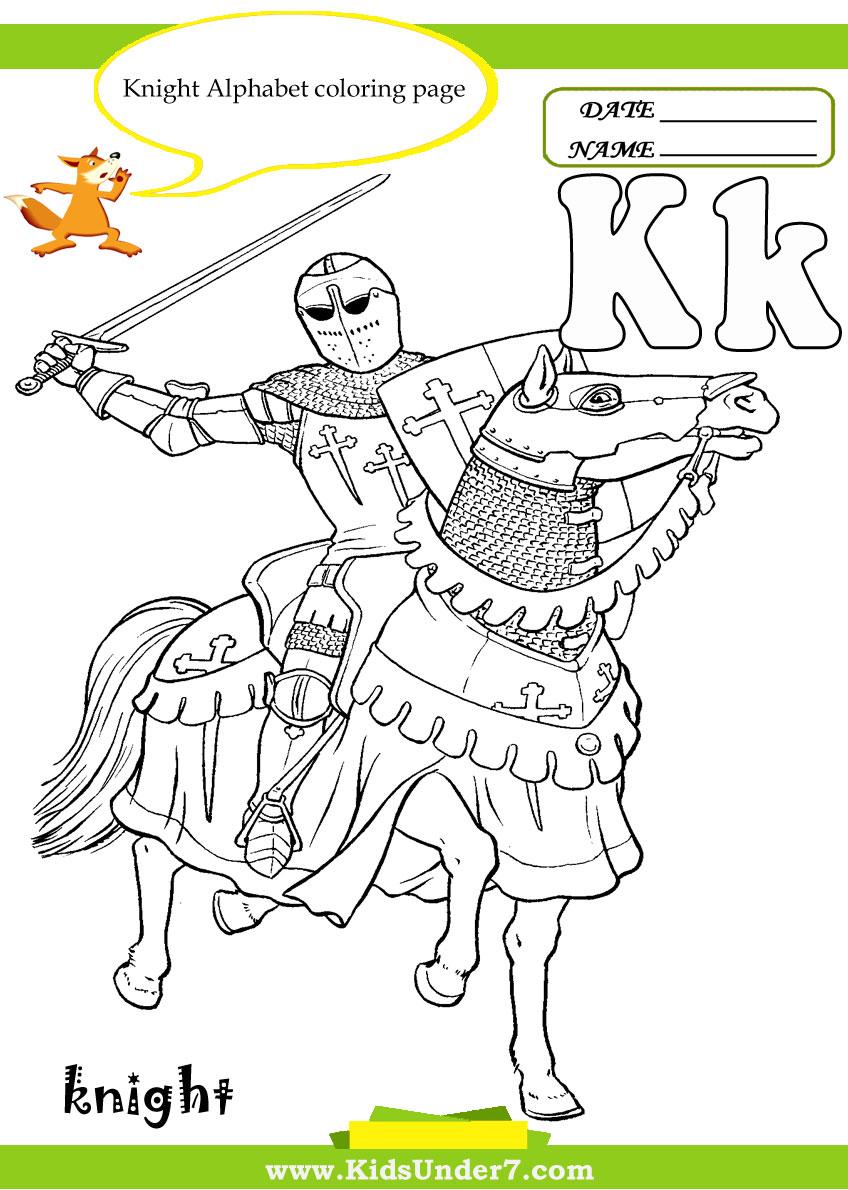 Kids Under 7: Letter K Worksheets and Coloring Pages
