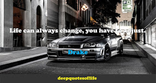 Life can always change, you have to adjust.  -Drake