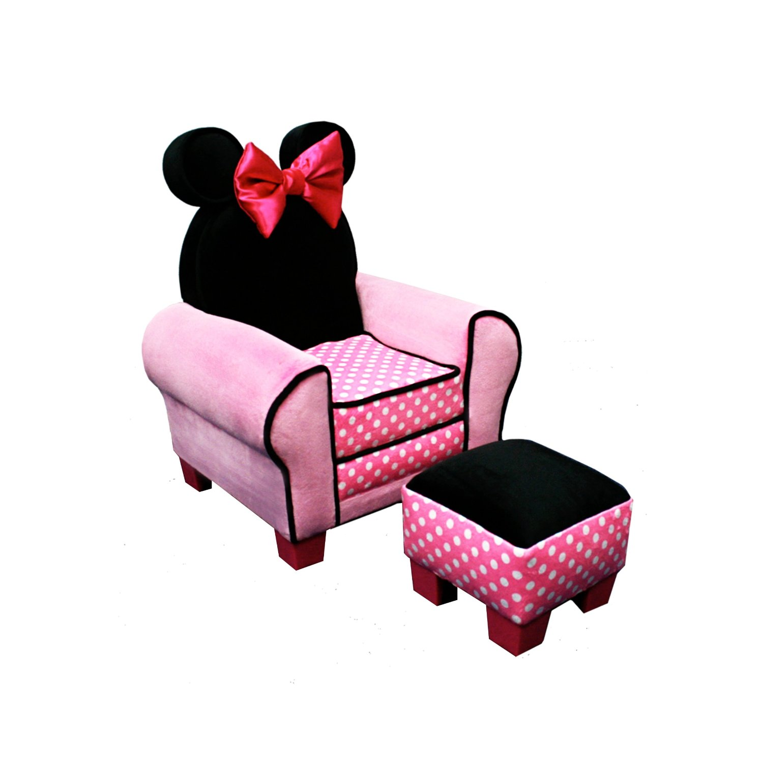 Minnie Mouse Recliner Chair La Rocking Store Total Fab Kids 39 And Toddler Ottoman Sets