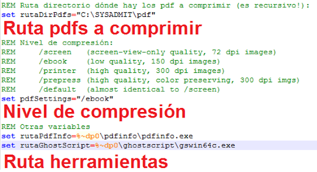 Windows: Comprimir PDF masivamente