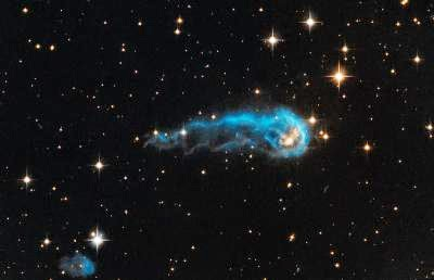 SPACE-HUBBLE-BLUE TADPOLE