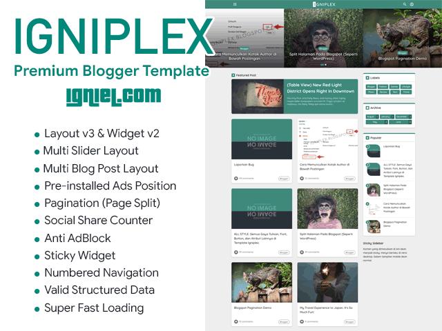 Download Igniplex Premium Blogger Theme