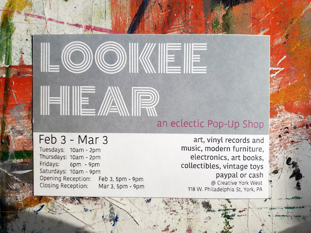 postcard for Lookee Hear Pop-Up Shop by Steph Holmes and Andrew D Yeager