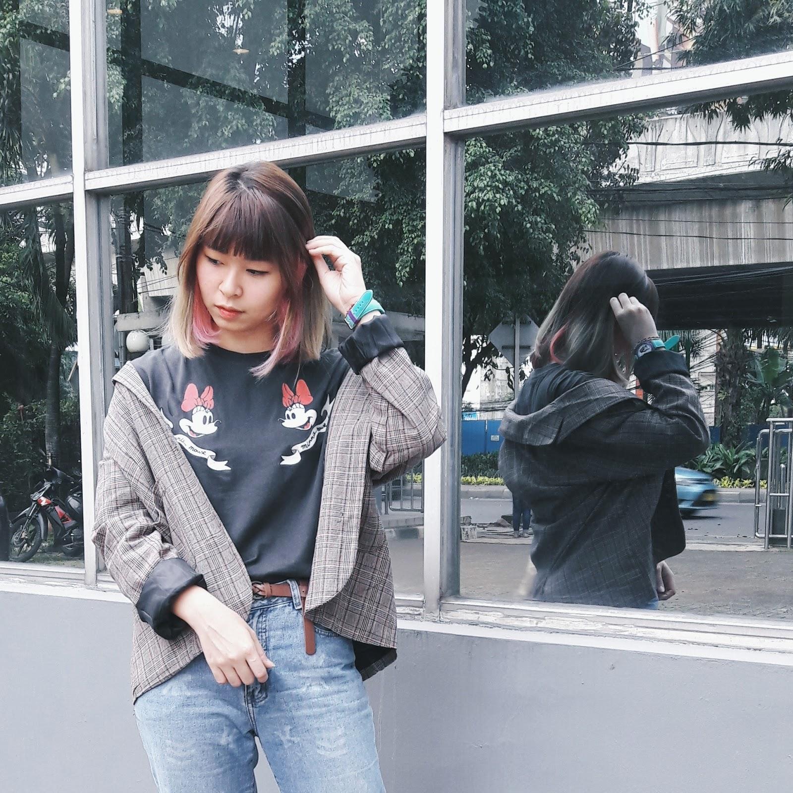 How to Look Casual with Plaid Blazer Blog   www.bigdreamerblog.com