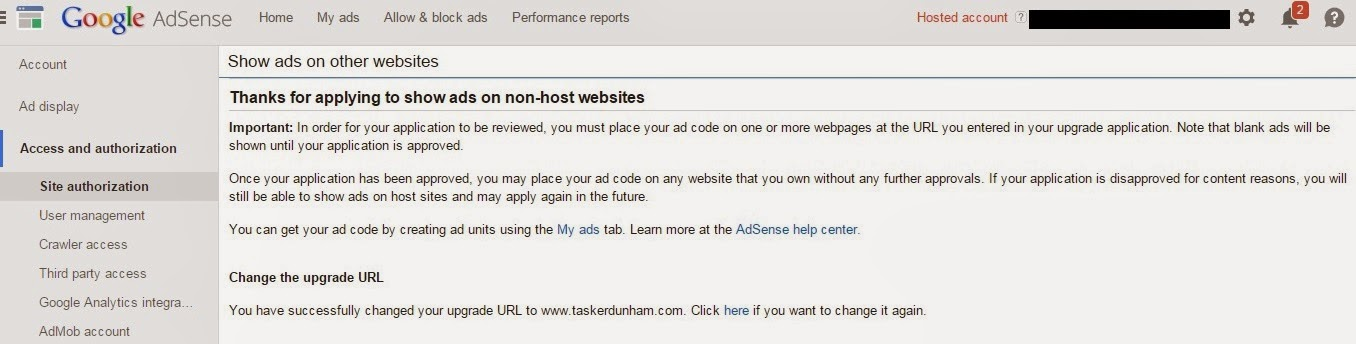Domain and Adsense
