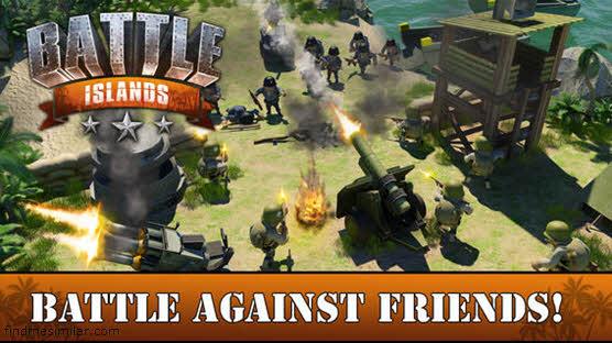 Battle Islands a game like Boom Beach