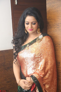 Udaya Bhanu lookssizzling in a Saree Choli at Gautam Nanda music launchi ~ Exclusive Celebrities Galleries 080.JPG