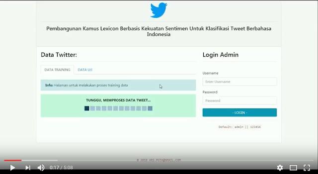 Sistem Informasi Software Riset Pembangunan Kamus Lexicon Pada Tweet Berbahasa Indonesia
