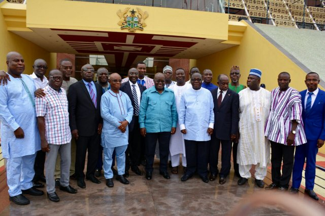 President Nana Addo Dankwa Akufo-Addo with the nominees