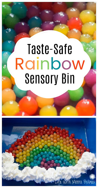 How to Create a Taste Safe Rainbow Sensory Bin