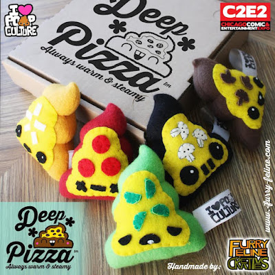 C2E2 2016 Exclusive Deep Sht Pizza Plush Set by Furry Feline Creatives