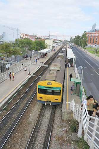 Belem Station, Belem, Lisbon, Portugal.