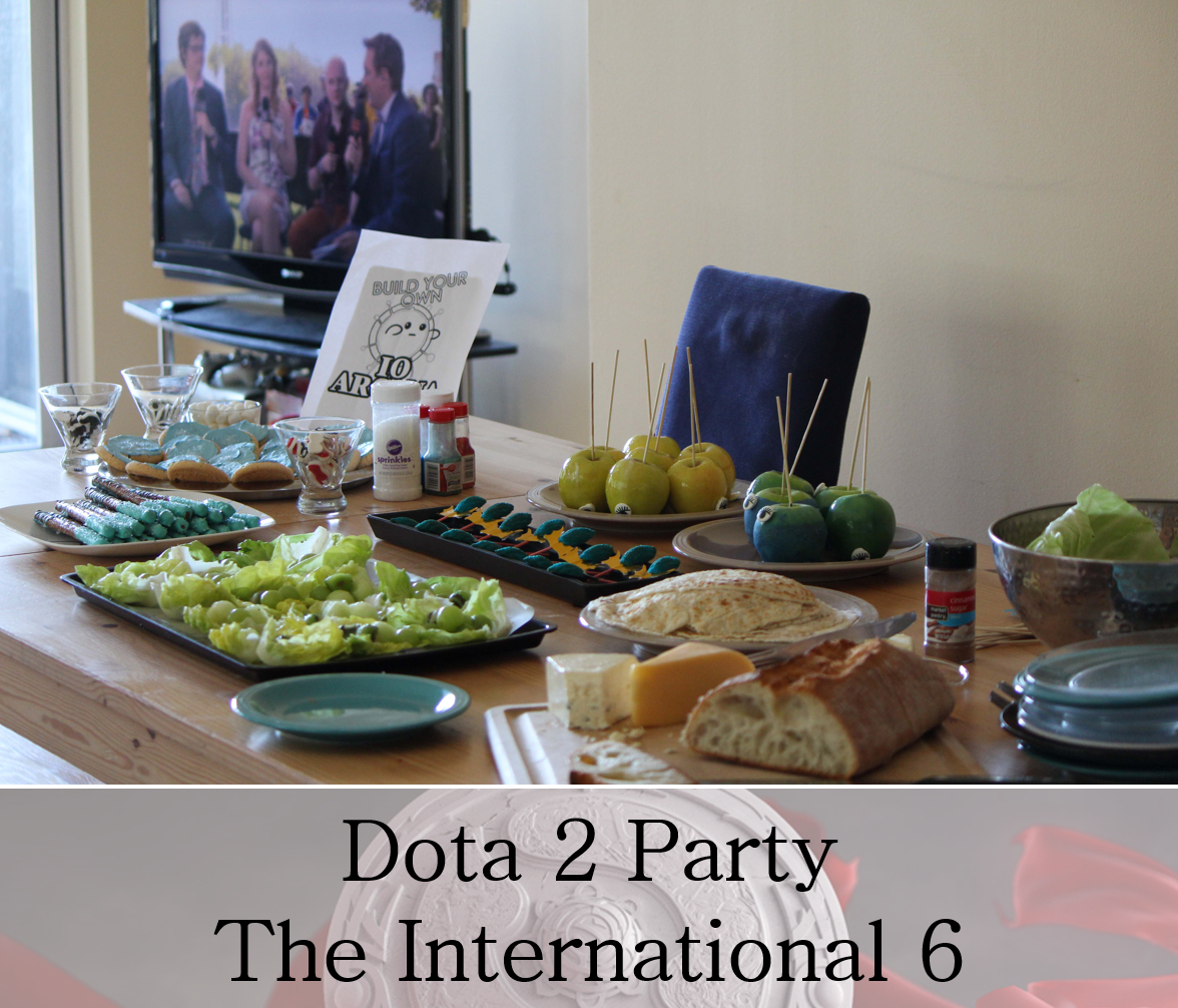 Dota 2 TI6 Party snacks - food based on the videogame