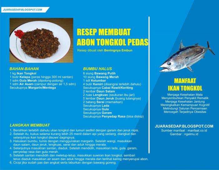 Resep Abon Tongkol Pedas dan Manfaat Ikan Tongkol
