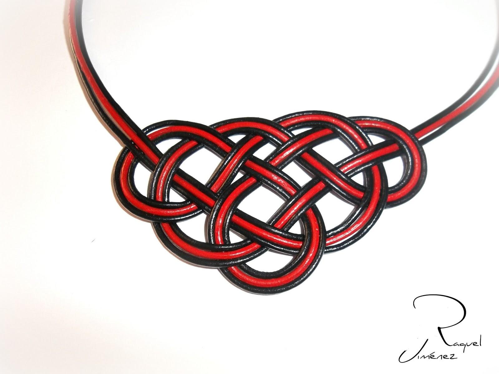 collar nudo celta nudo rojo