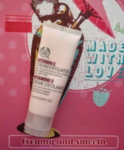 crème exfoliante vitamine E the body shop
