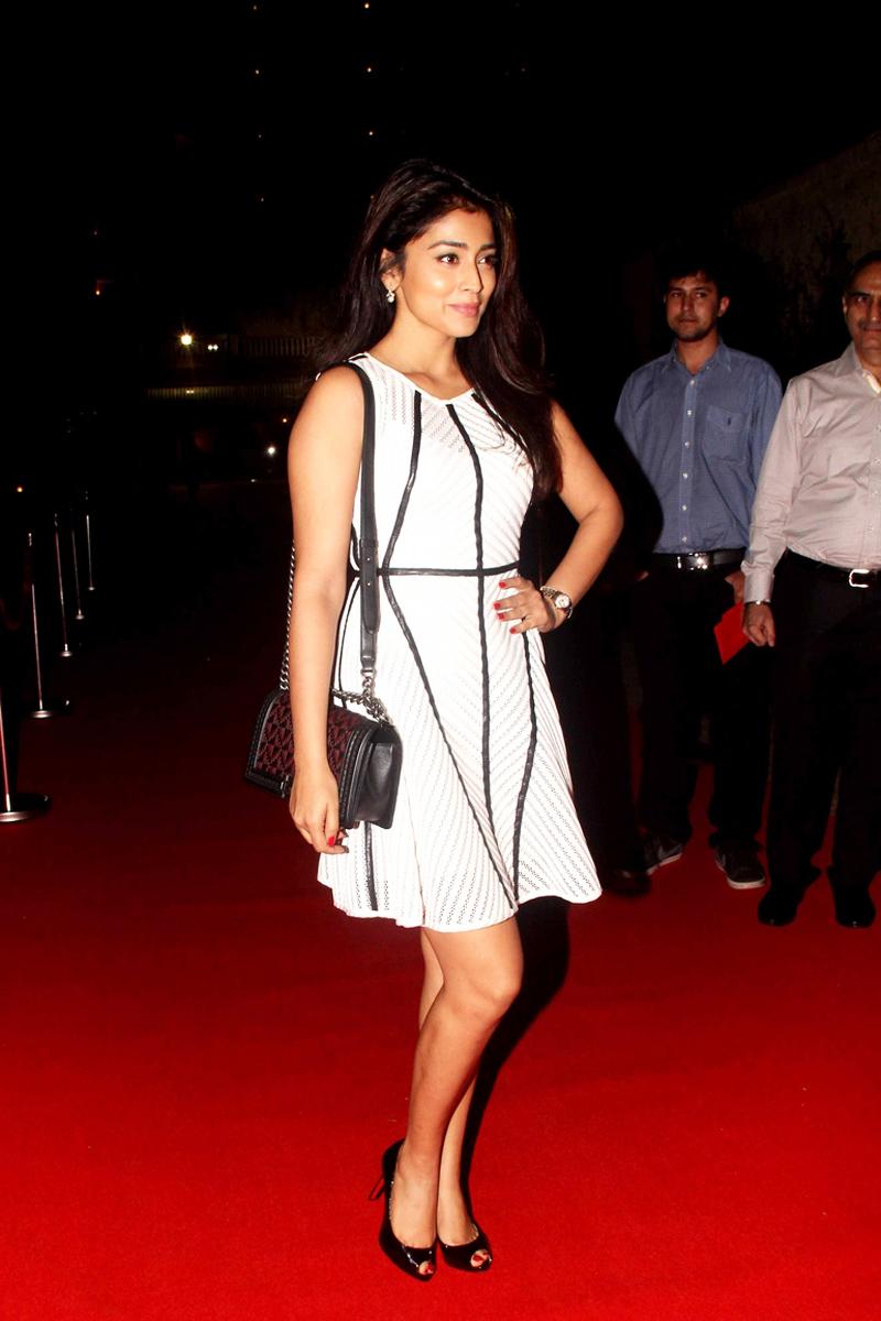 Shriya Saran Photos In Spicy White Dress