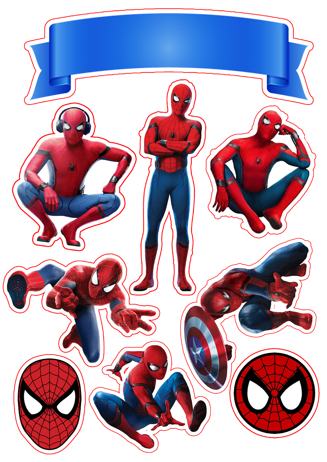graphic relating to Free Printable Cupcake Wrappers and Toppers With Spiderman called Spiderman Video Free of charge Printable Cake Toppers. - Oh My Fiesta