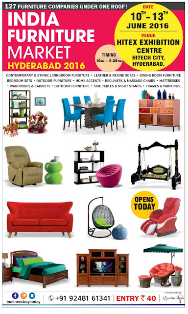 India Furniture Market Fair - Hyderabad 2016 | Furniture festival discount offers