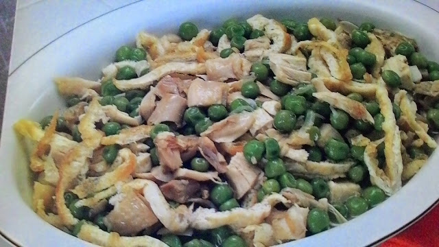 Resep Masakan-Makanan Dadar Ayam Ercis