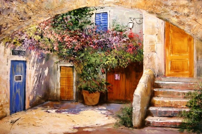 im genes arte pinturas fabulosos paisajes con casas