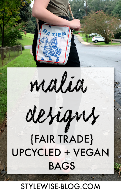 where to find upcycled fair trade vegan handbags malia designs stylewise-blog.com