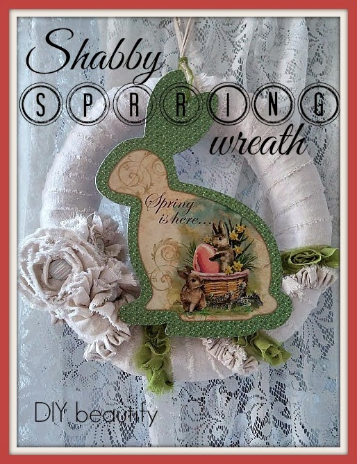 Shabby Wreath for Spring and Easter