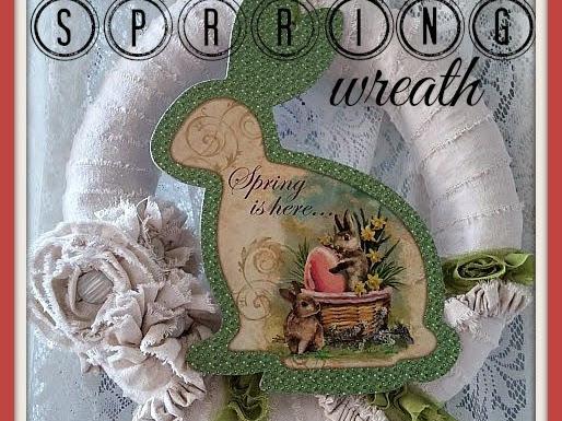 Shabby Wreath for Spring