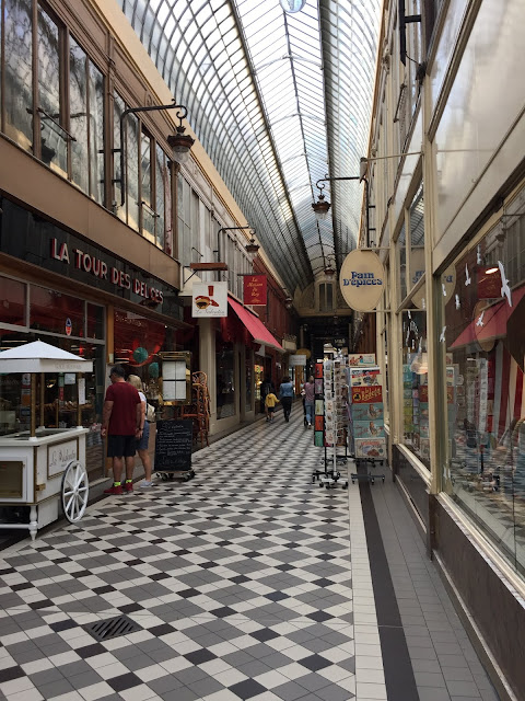 Interior of Passage Jouffroy in Paris