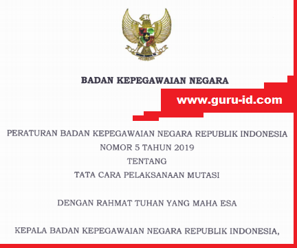 gambar peraturan BKN nomor 5 tahun 2019