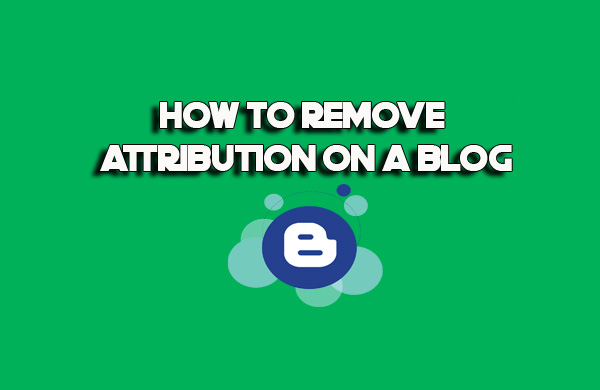 How to Remove Attribution on a Blog