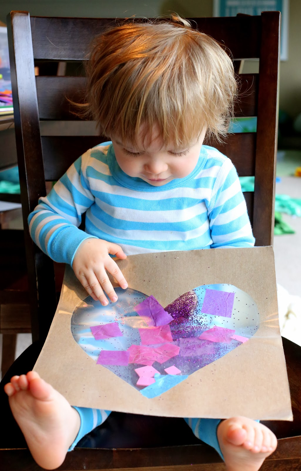 Easy Baby/Toddler Valentine's Day Art