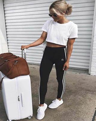 outfit deportivo para viajar