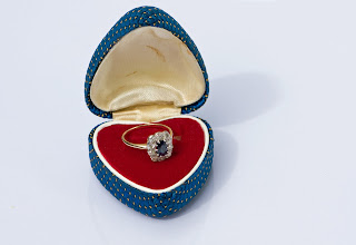 K'Mich Wedding - wedding planning - wedding checklist - antique engagement ring in a heart shape box