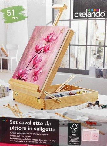 Valigetta per dipingere e colorare con colori e cavalletto da lidl - Cavalletto da pittore da tavolo ...
