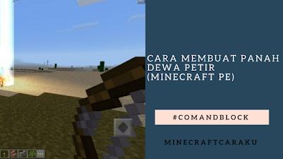 Cara membuat panah dewa Petir (minecraft pe)