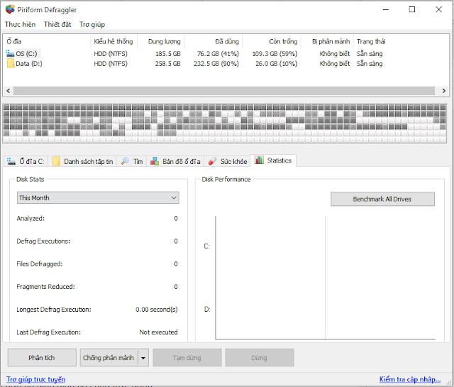 Phần mềm Defraggler