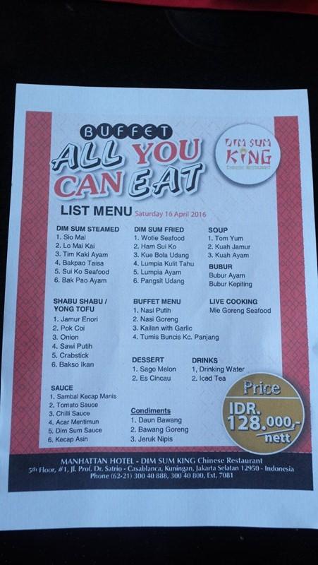 Dimsum King, All You Can Eat Resto Yang Bikin Ketagihan
