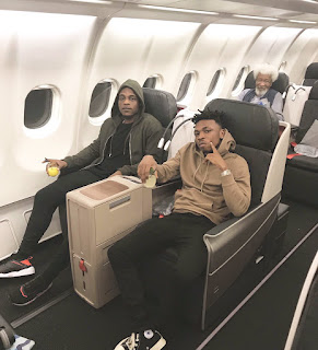 Mayorkun and LAX with Wole Soyinka