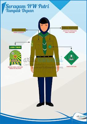 seragam hizbul wathan putri