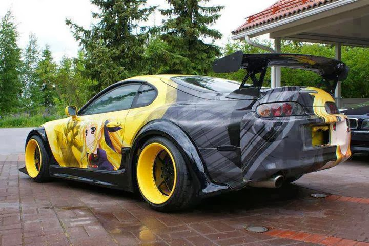 Toyota celica wide body kit car tuning - Toyota Supra Custom Paint Jobs