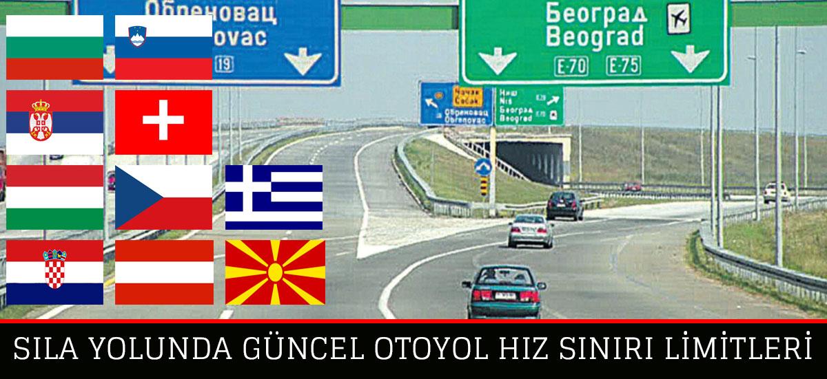Avrupa'da Otoyol Hız Sınırları