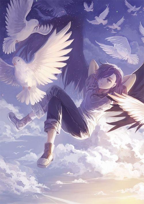 Ảnh anime boy thiên thần