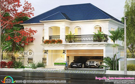 European mix grand house plan