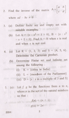 Mathematics Foundation of Computer Science BCA / DCA-104