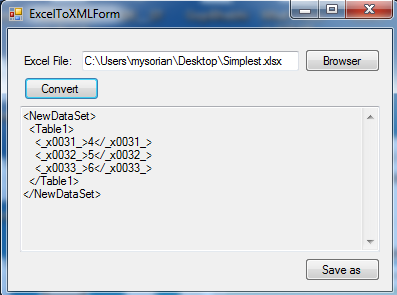 Converting Excel Spread Sheet To Xml Format Using Open Xml